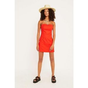 ced01615d1a Urban Outfitters Dresses - UO Colette Red Linen Mini Dress